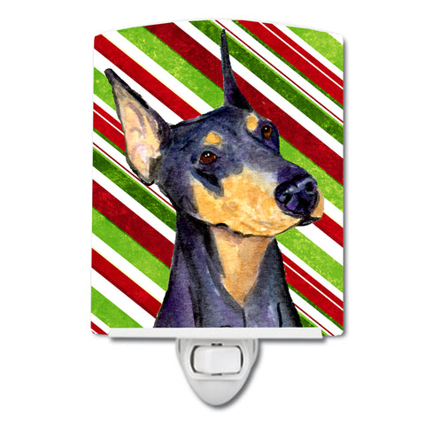 Buy this Doberman Candy Cane Holiday Christmas Ceramic Night Light SS4564CNL