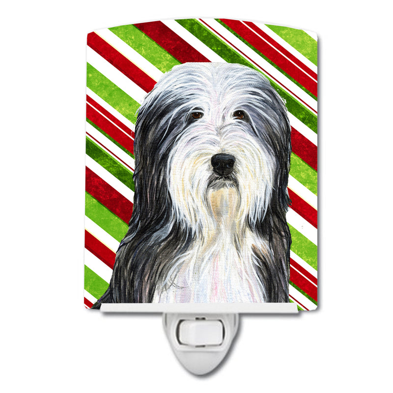 Buy this Bearded Collie Candy Cane Holiday Christmas Ceramic Night Light SS4566CNL