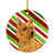 Buy this Norwich Terrier Candy Cane Holiday Christmas Ceramic Ornament SS4568