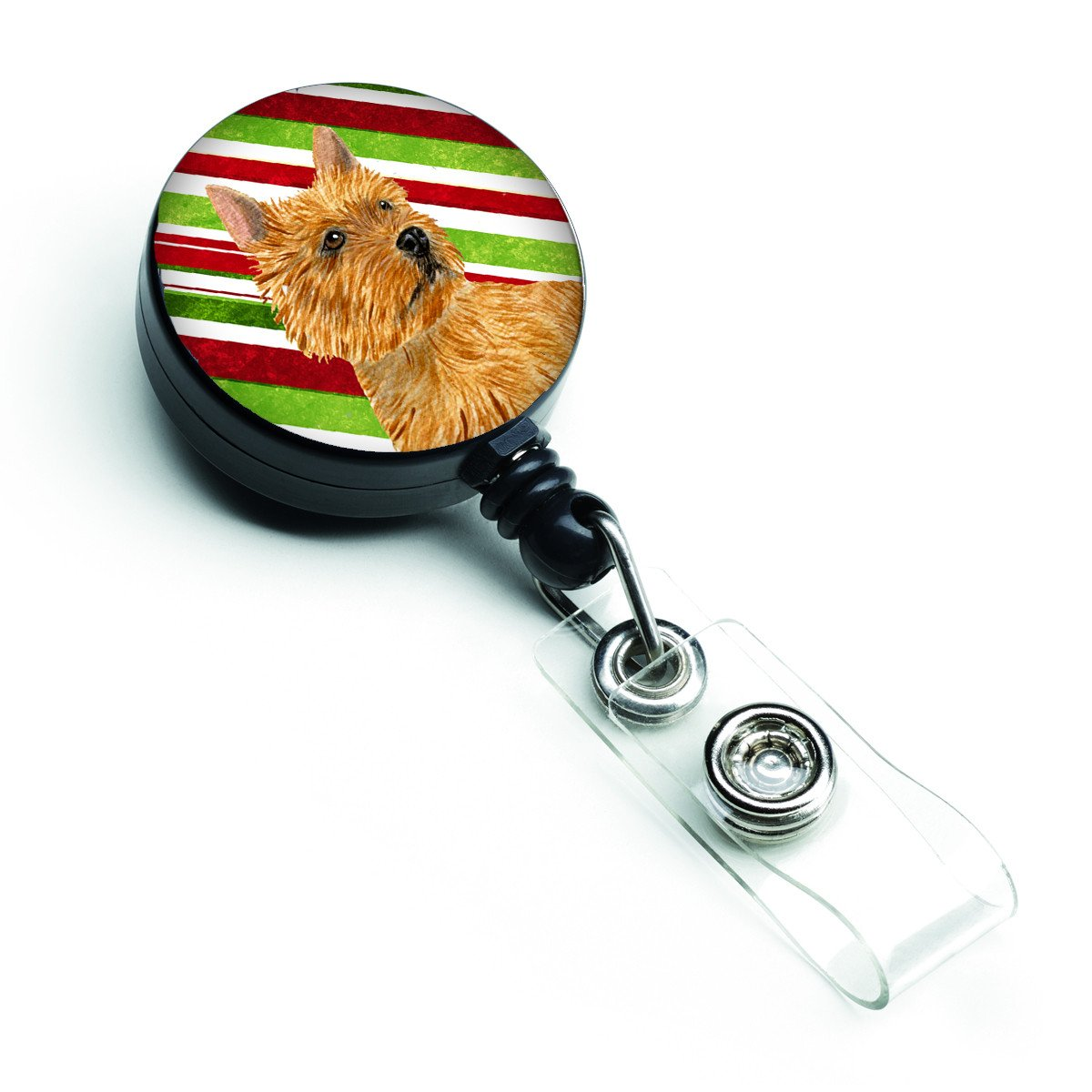 Norwich Terrier Candy Cane Holiday Christmas Retractable Badge Reel SS4568BR by Caroline's Treasures