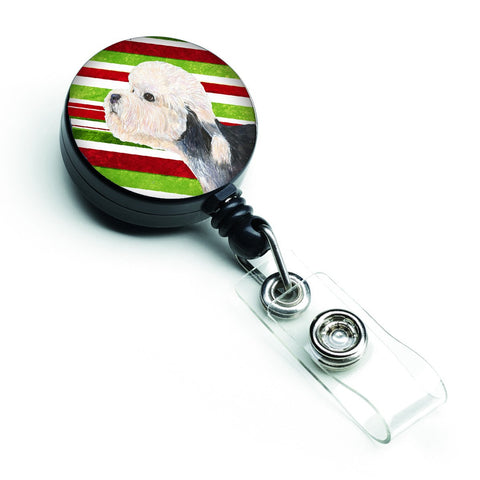 Buy this Dandie Dinmont Terrier Candy Cane Holiday Christmas Retractable Badge Reel SS4572BR