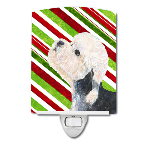 Buy this Dandie Dinmont Terrier Candy Cane Holiday Christmas Ceramic Night Light SS4572CNL