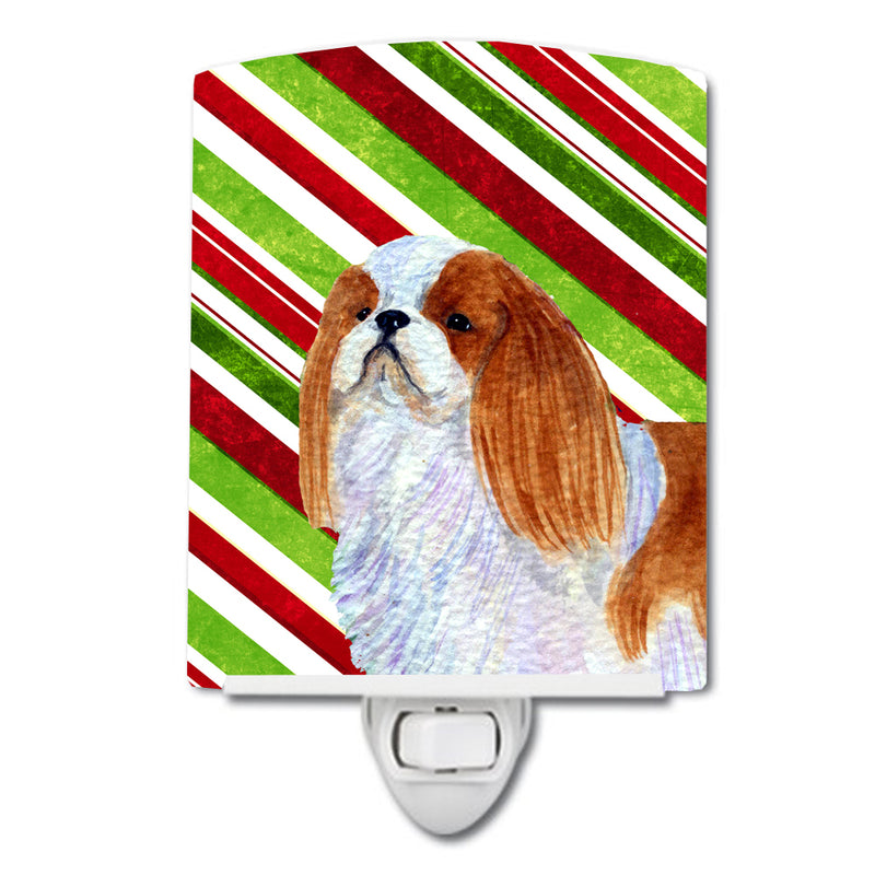 Buy this English Toy Spaniel Candy Cane Holiday Christmas Ceramic Night Light SS4576CNL