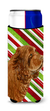 Sussex Spaniel Candy Cane Holiday Christmas Ultra Beverage Insulators for slim cans SS4579MUK by Caroline's Treasures