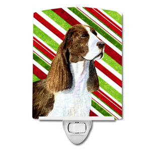 Buy this Springer Spaniel Candy Cane Holiday Christmas Ceramic Night Light SS4582CNL