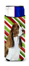 Springer Spaniel Candy Cane Holiday Christmas Ultra Beverage Insulators for slim cans SS4582MUK by Caroline's Treasures