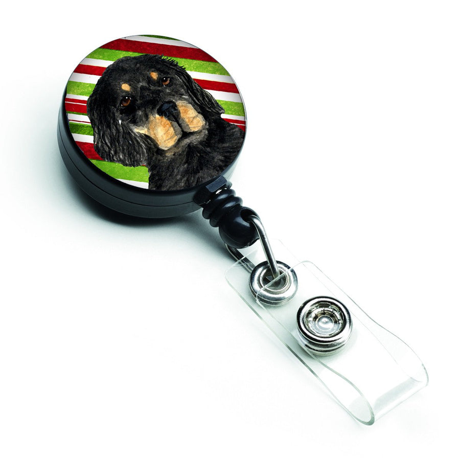 Buy this Gordon Setter Candy Cane Holiday Christmas Retractable Badge Reel SS4584BR