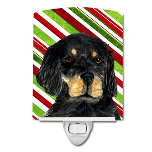 Buy this Gordon Setter Candy Cane Holiday Christmas Ceramic Night Light SS4584CNL