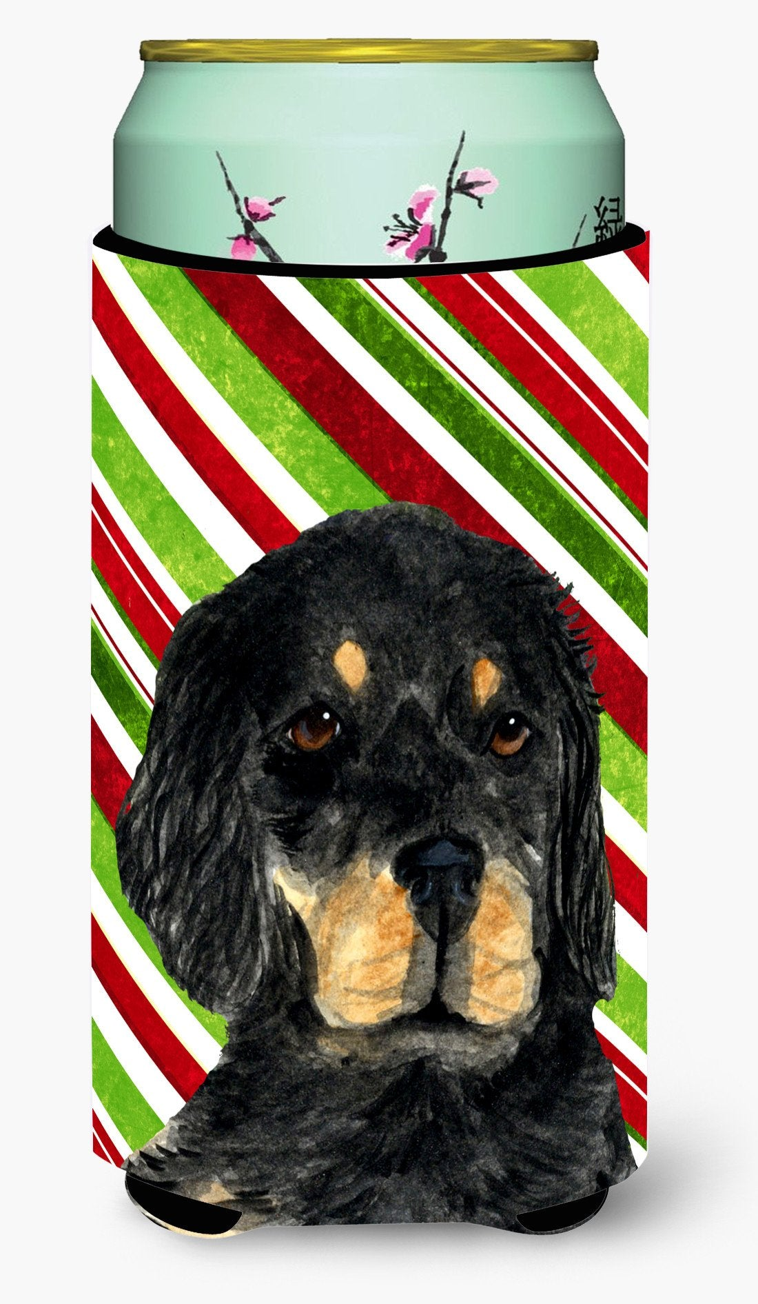 Buy this Gordon Setter Candy Cane Holiday Christmas  Tall Boy Beverage Insulator Beverage Insulator Hugger