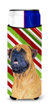 Mastiff Candy Cane Holiday Christmas Ultra Beverage Insulators for slim cans SS4589MUK by Caroline's Treasures