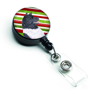 Buy this Akita Candy Cane Holiday Christmas Retractable Badge Reel SS4590BR