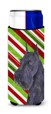 Schnauzer Candy Cane Holiday Christmas Ultra Beverage Insulators for slim cans SS4592MUK by Caroline's Treasures