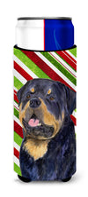 Rottweiler Candy Cane Holiday Christmas Ultra Beverage Insulators for slim cans SS4593MUK by Caroline's Treasures
