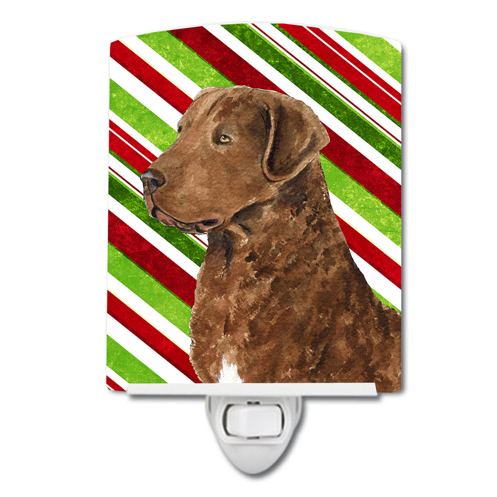 Buy this Chesapeake Bay Retriever Candy Cane Holiday Christmas Ceramic Night Light SS4600CNL