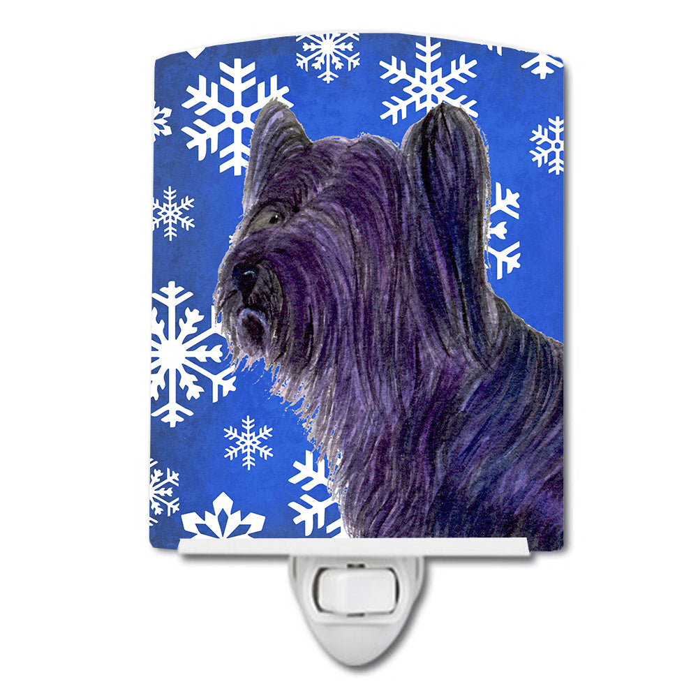 Buy this Skye Terrier Winter Snowflakes Holiday Ceramic Night Light SS4601CNL