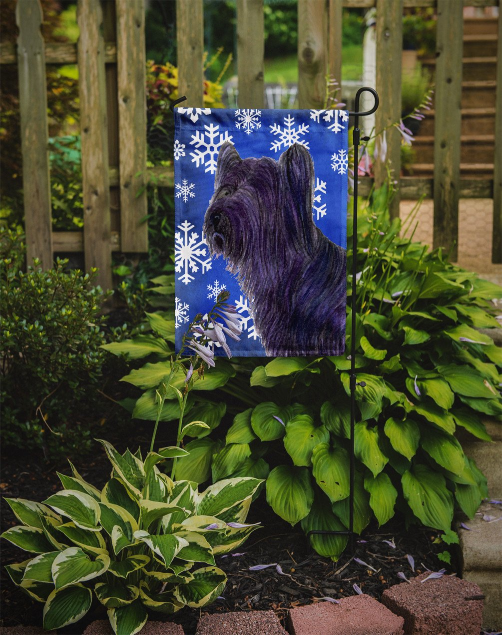 Skye Terrier Winter Snowflakes Holiday Flag Garden Size by Caroline's Treasures