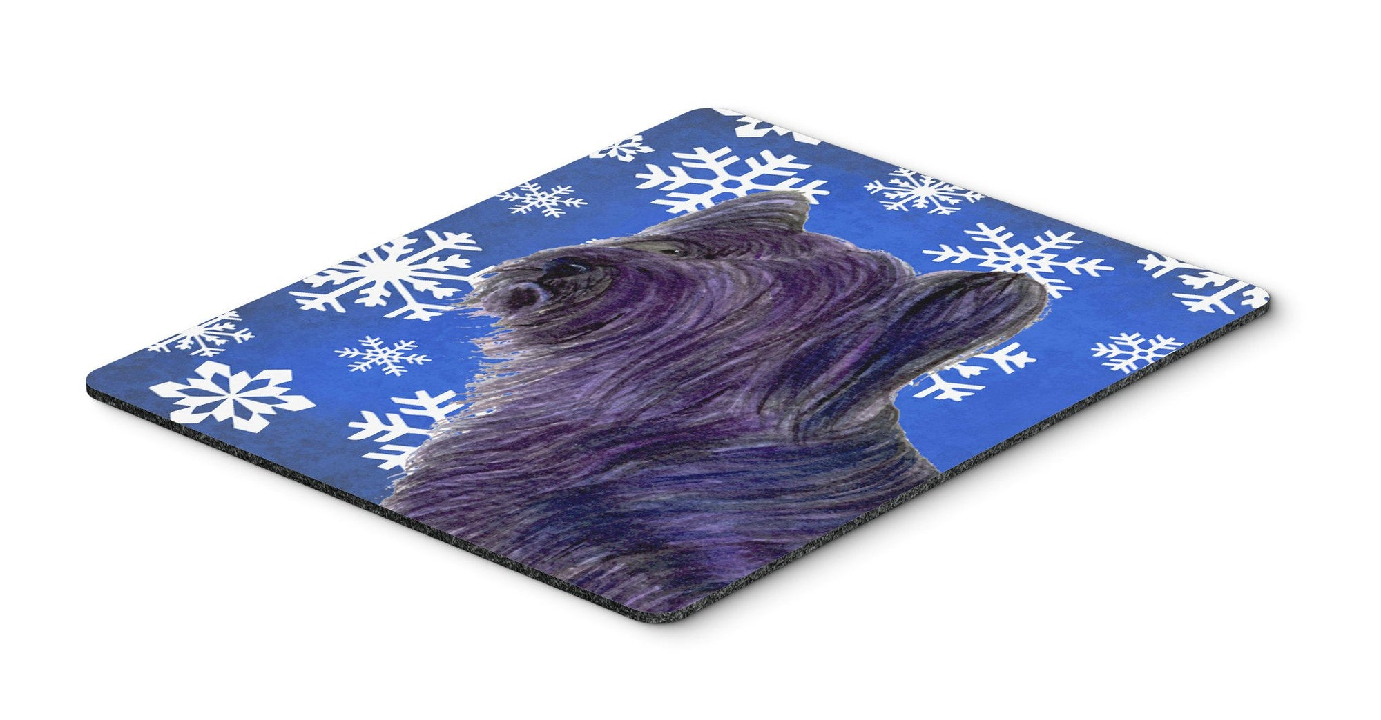 Skye Terrier Winter Snowflakes Holiday Mouse Pad, Hot Pad or Trivet by Caroline's Treasures