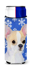Chihuahua Winter Snowflakes Holiday Ultra Beverage Insulators for slim cans SS4612MUK by Caroline's Treasures