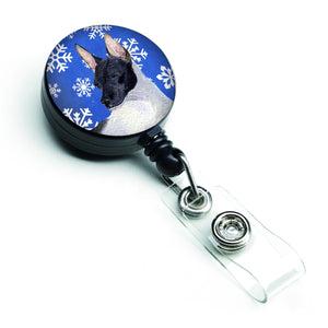 Buy this Rat Terrier Winter Snowflakes Holiday Retractable Badge Reel SS4618BR