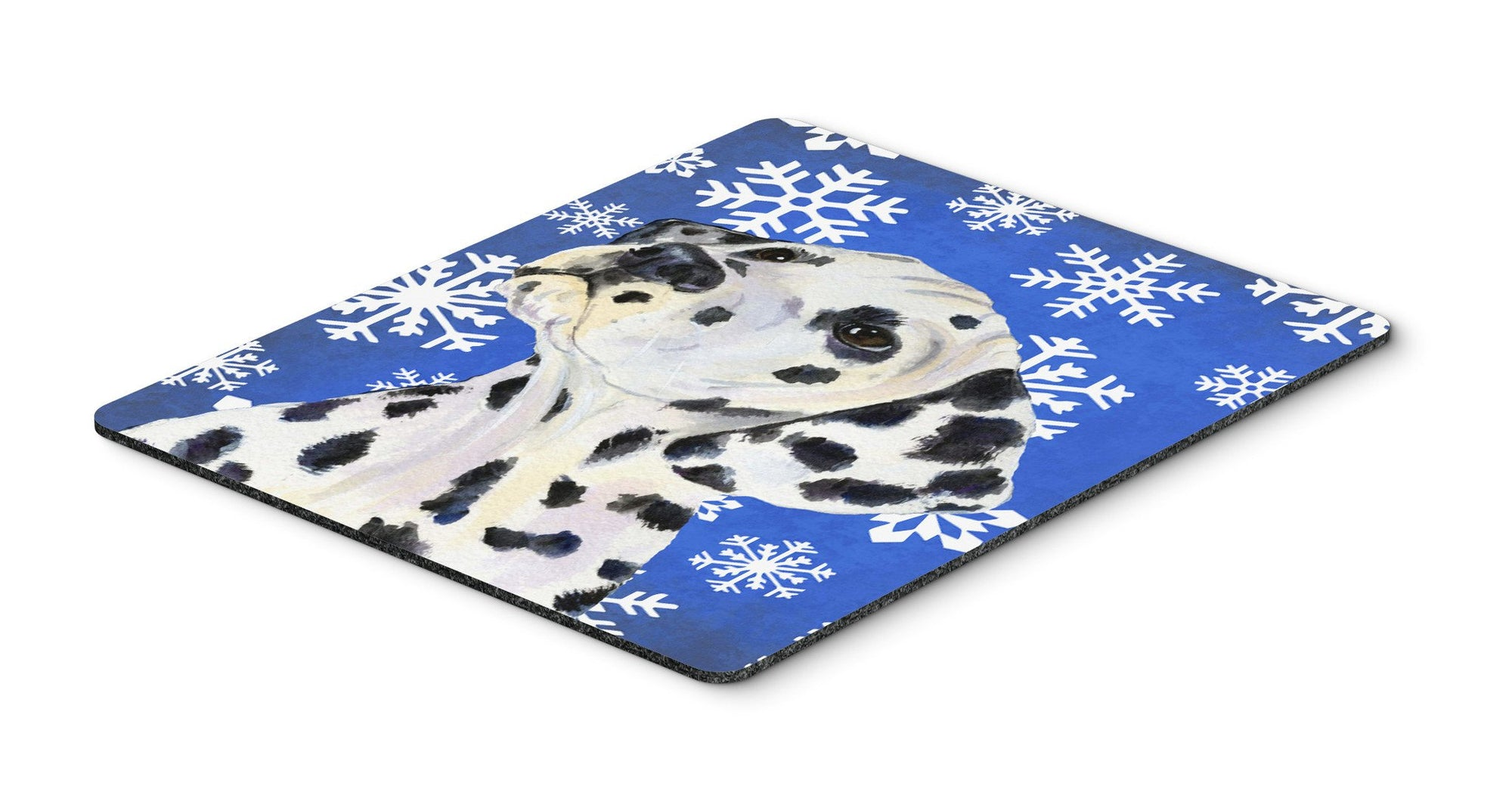 Dalmatian Winter Snowflakes Holiday Mouse Pad, Hot Pad or Trivet by Caroline's Treasures