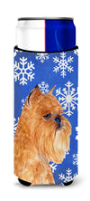 Brussels Griffon Winter Snowflakes Holiday Ultra Beverage Insulators for slim cans SS4632MUK by Caroline's Treasures