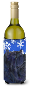 Chow Chow Winter Snowflakes Holiday Wine Bottle Beverage Insulator Beverage Insulator Hugger by Caroline's Treasures