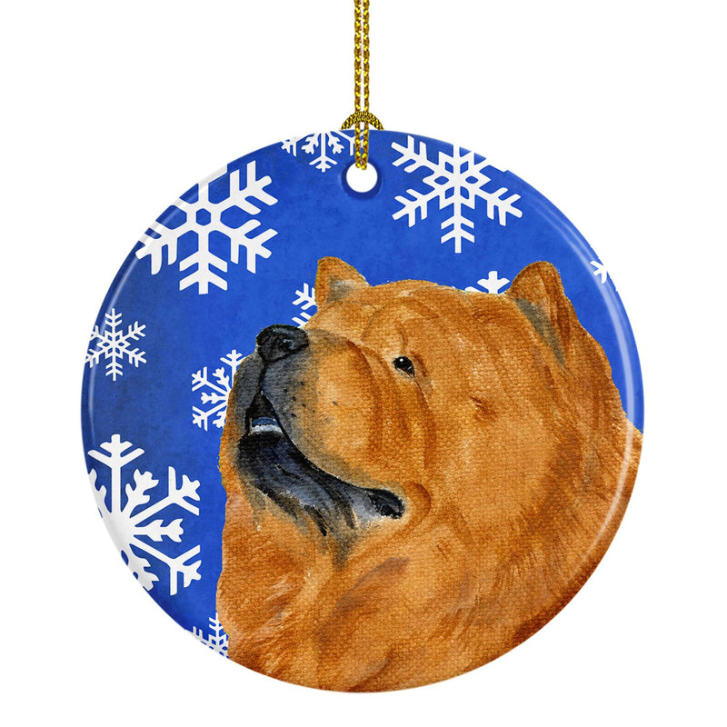 Chow Chow Winter Snowflakes Holiday Christmas Ceramic Ornament SS4640 by Caroline's Treasures