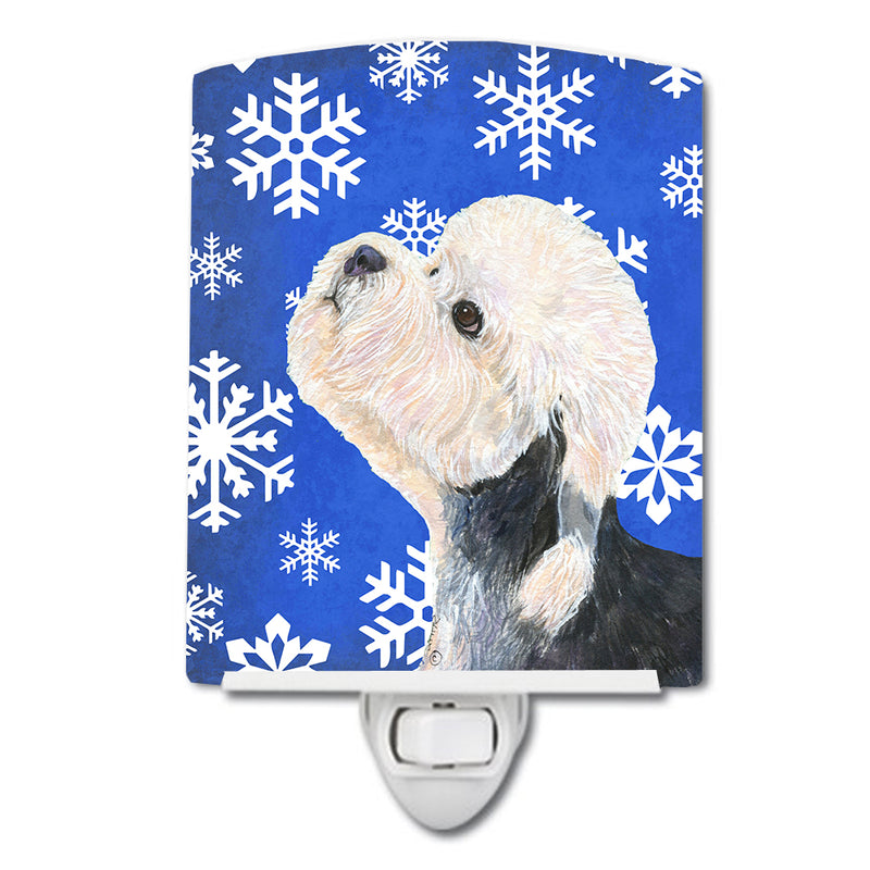 Buy this Dandie Dinmont Terrier Winter Snowflakes Holiday Ceramic Night Light SS4641CNL