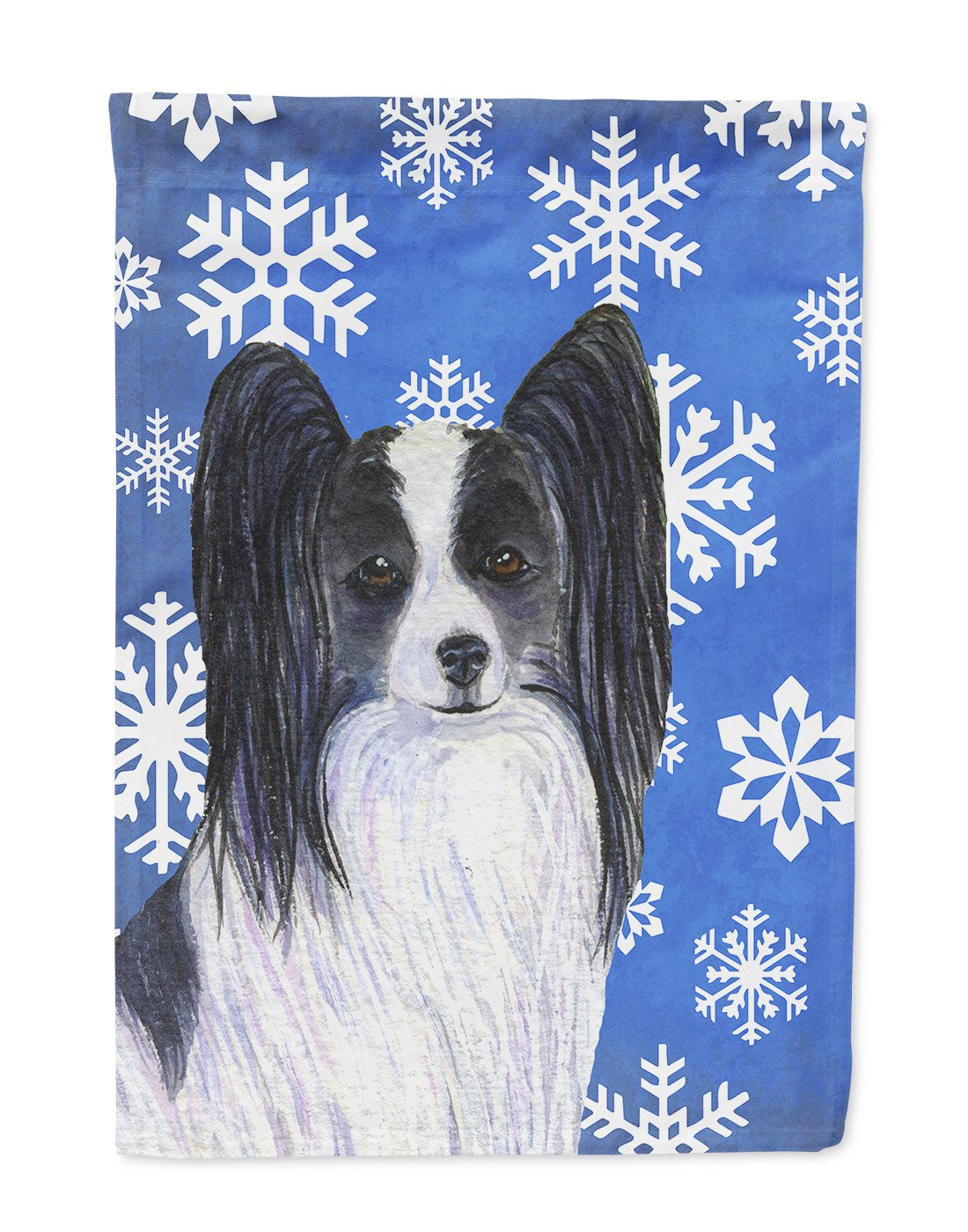 Buy this Papillon Winter Snowflakes Holiday Flag Garden Size