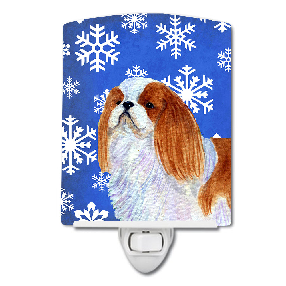 Buy this English Toy Spaniel Winter Snowflakes Holiday Ceramic Night Light SS4645CNL