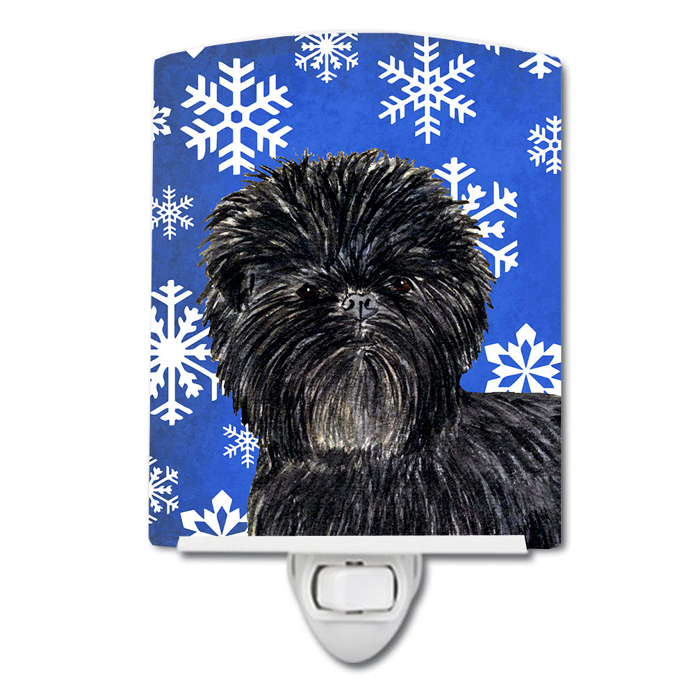 Buy this Affenpinscher Winter Snowflakes Holiday Ceramic Night Light SS4649CNL