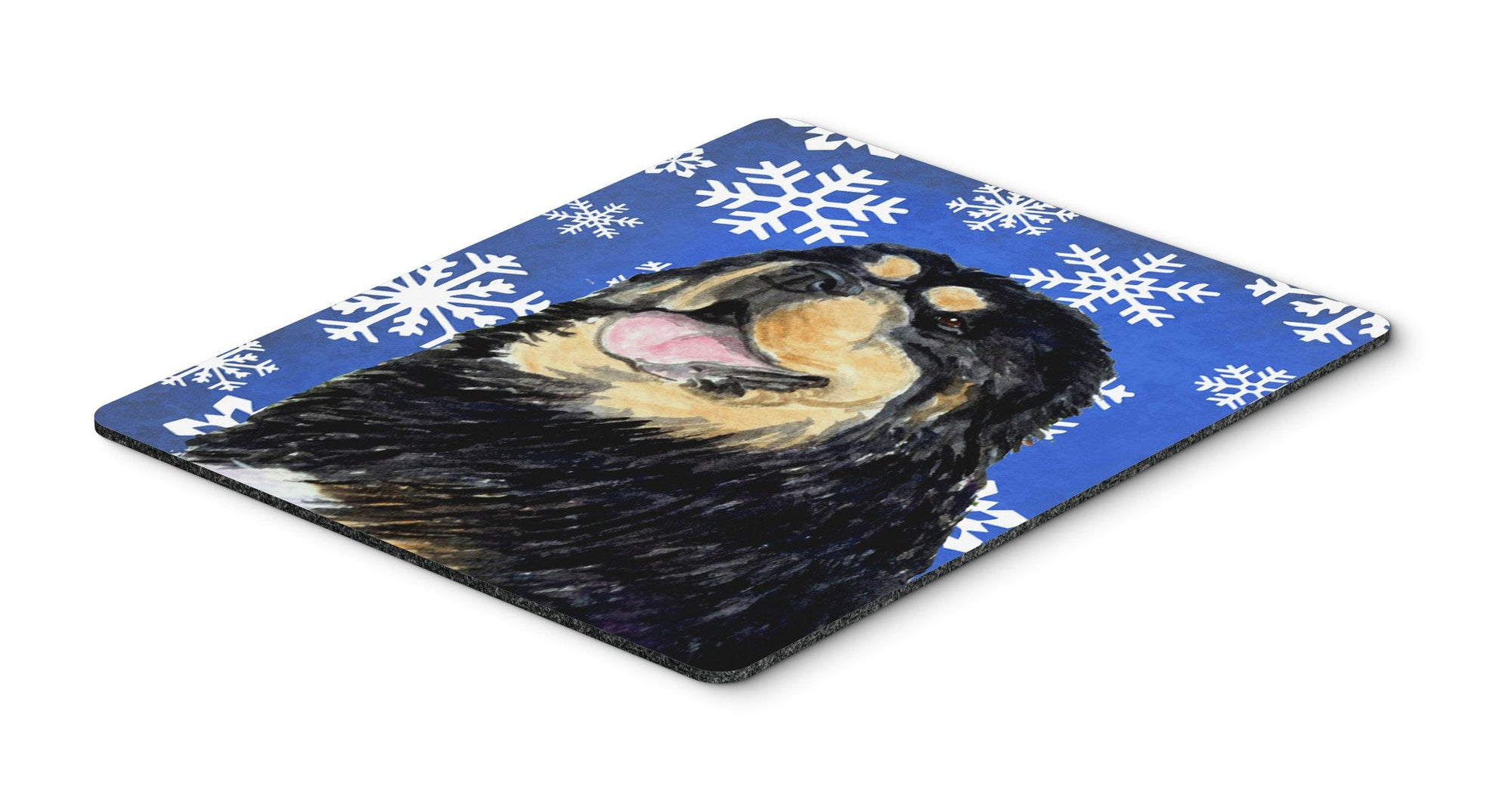 Tibetan Mastiff Winter Snowflakes Holiday Mouse Pad, Hot Pad or Trivet by Caroline's Treasures