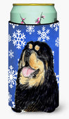 Tibetan Mastiff Winter Snowflakes Holiday  Tall Boy Beverage Insulator Beverage Insulator Hugger by Caroline's Treasures