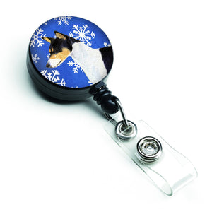 Buy this Basenji Winter Snowflakes Holiday Retractable Badge Reel SS4652BR