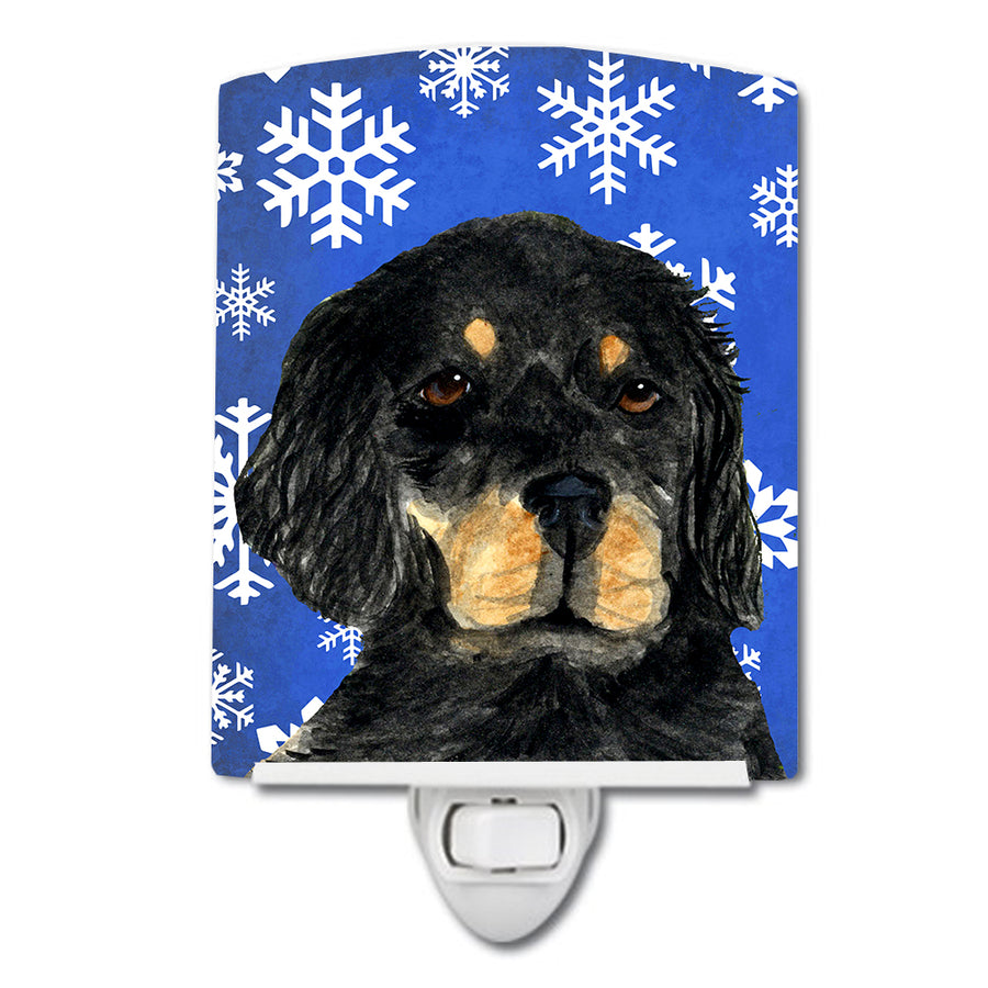 Buy this Gordon Setter Winter Snowflakes Holiday Ceramic Night Light SS4653CNL