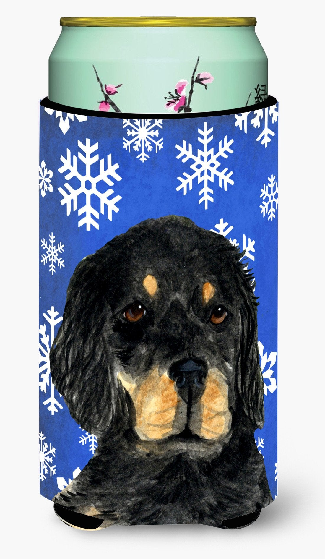 Gordon Setter Winter Snowflakes Holiday  Tall Boy Beverage Insulator Beverage Insulator Hugger by Caroline's Treasures
