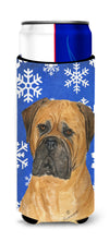 Bullmastiff Winter Snowflakes Holiday Ultra Beverage Insulators for slim cans SS4655MUK by Caroline's Treasures