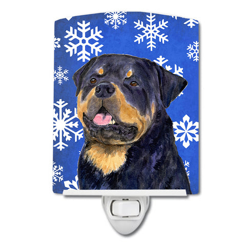 Buy this Rottweiler Winter Snowflakes Holiday Ceramic Night Light SS4662CNL