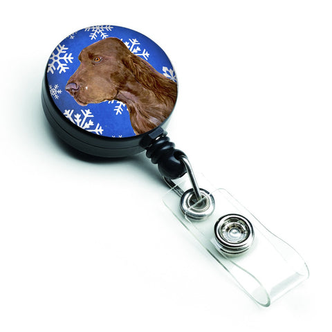 Buy this Field Spaniel Winter Snowflakes Holiday Retractable Badge Reel SS4663BR