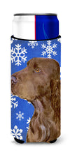 Field Spaniel Winter Snowflakes Holiday Ultra Beverage Insulators for slim cans SS4663MUK by Caroline's Treasures