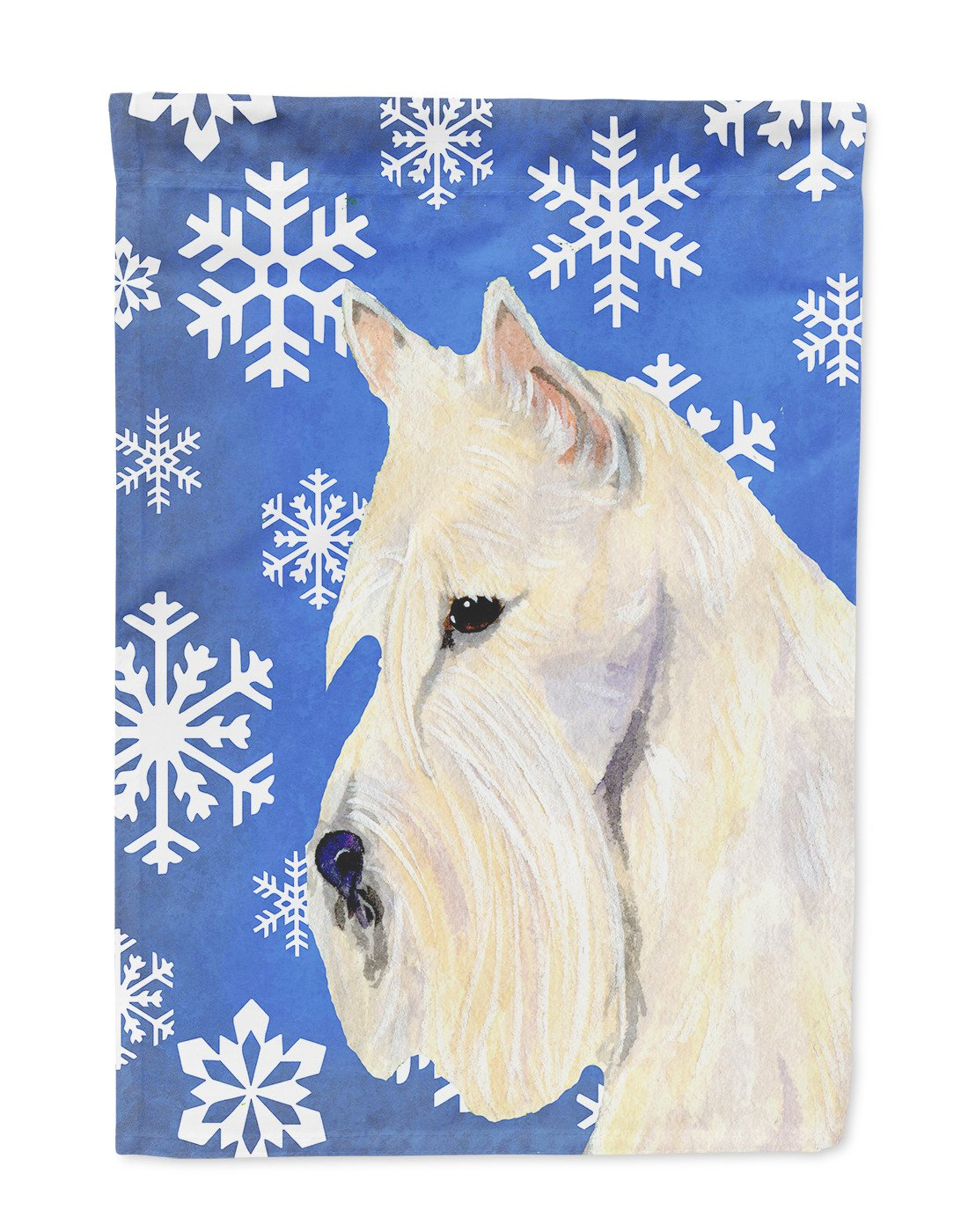 Scottish Terrier Winter Snowflakes Holiday Flag Garden Size by Caroline's Treasures