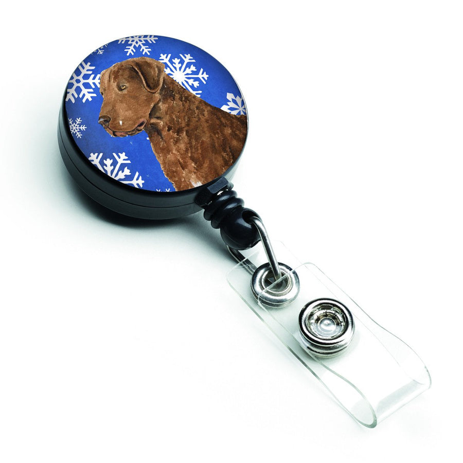 Buy this Chesapeake Bay Retriever Winter Snowflakes Holiday Retractable Badge Reel SS4669BR