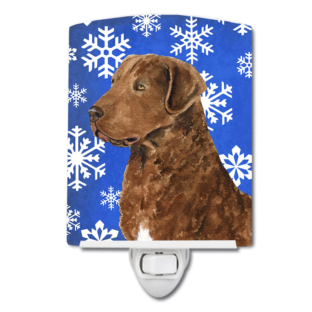 Buy this Chesapeake Bay Retriever Winter Snowflakes Holiday Ceramic Night Light SS4669CNL