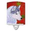 Siberian Husky Red Green Snowflake Holiday Christmas Ceramic Night Light SS4671CNL by Caroline's Treasures