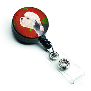 Buy this Dandie Dinmont Terrier Red Green Snowflakes Christmas Retractable Badge Reel SS4710BR