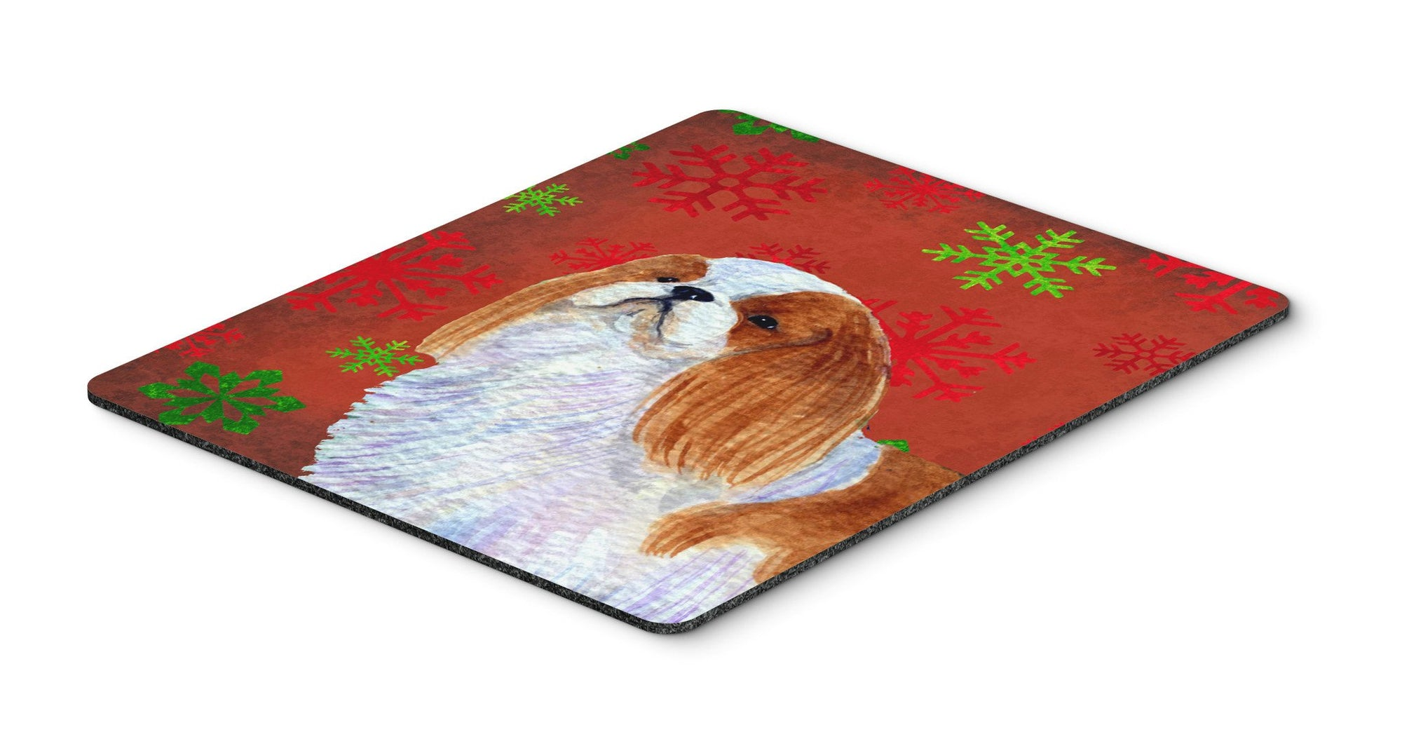 English Toy Spaniel Snowflakes Holiday Christmas Mouse Pad, Hot Pad or Trivet by Caroline's Treasures