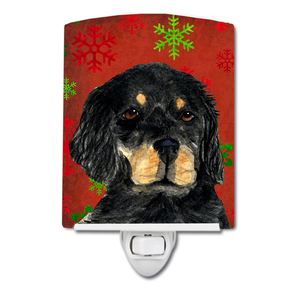 Buy this Gordon Setter Red Green Snowflakes Christmas Ceramic Night Light SS4722CNL