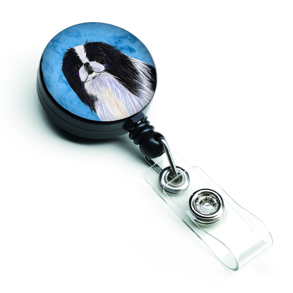 Japanese Chin  Retractable Badge Reel or ID Holder with Clip SS4743 by Caroline's Treasures
