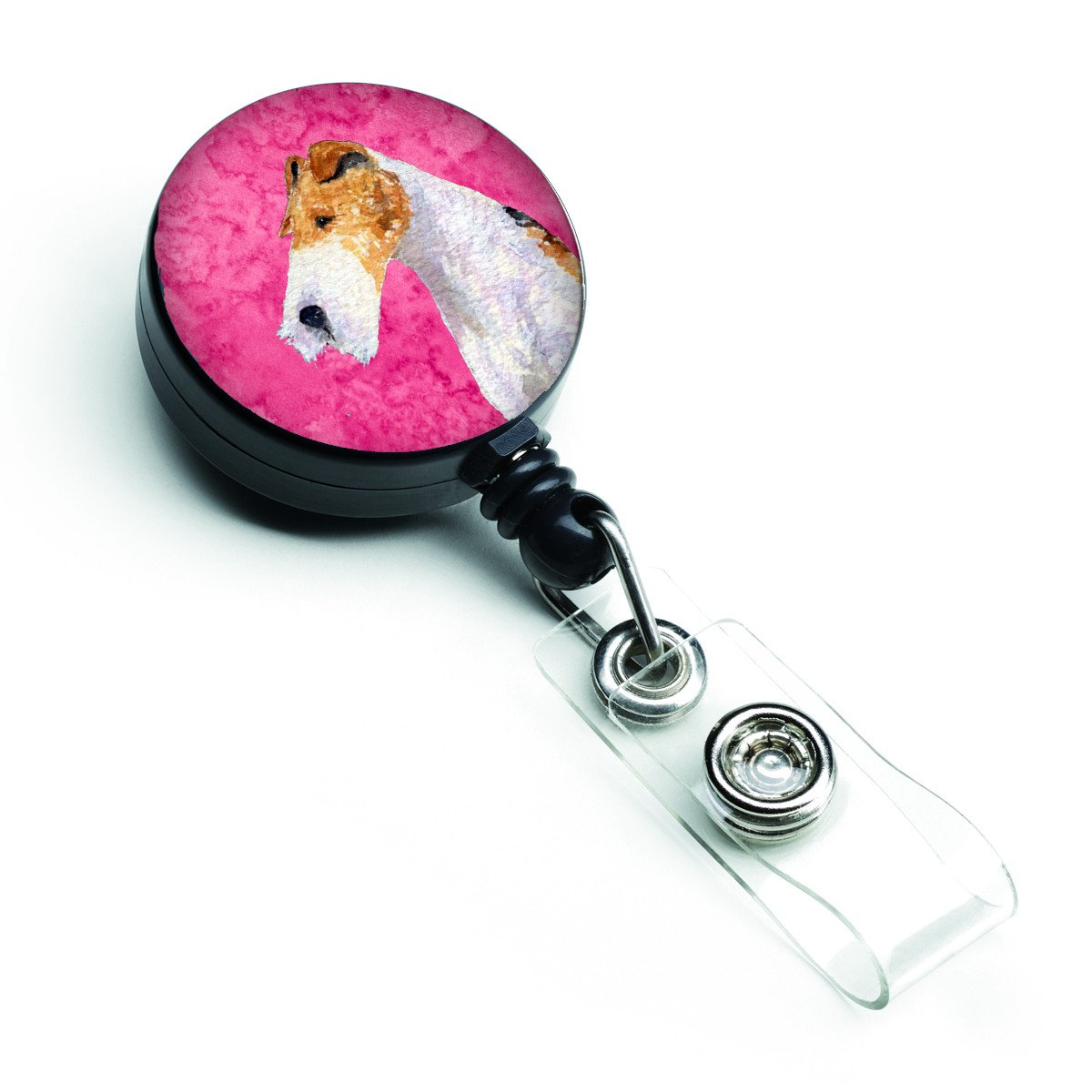 Fox Terrier  Retractable Badge Reel or ID Holder with Clip SS4754 by Caroline's Treasures