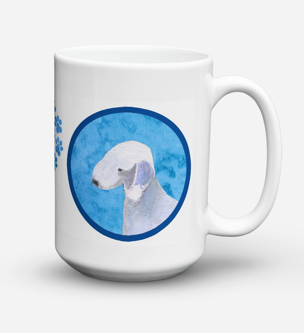 Bedlington Terrier Dishwasher Safe Microwavable Ceramic Coffee Mug 15 ounce SS4759 by Caroline's Treasures